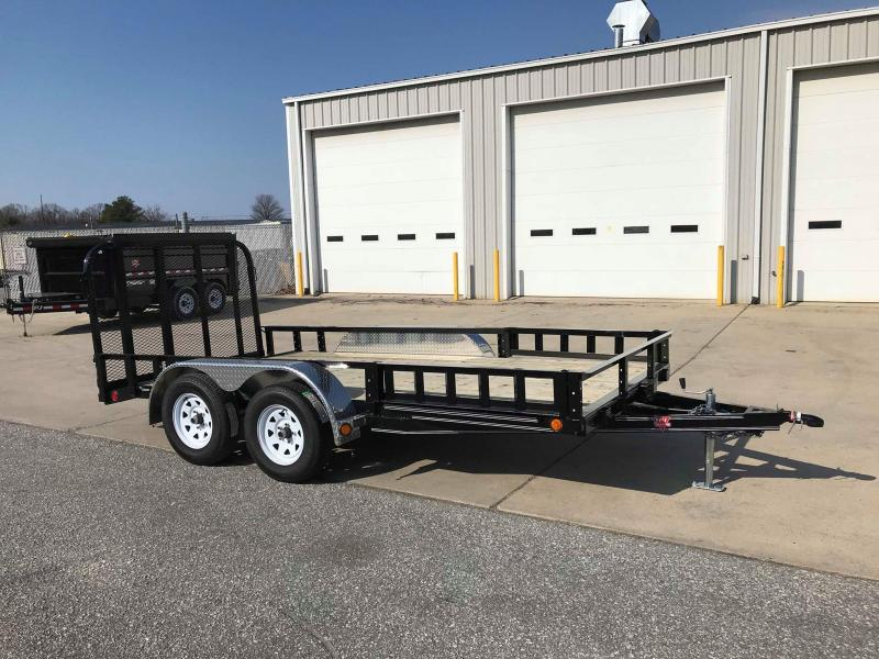 "2018 PJ Trailers 14' x 77"" Tandem Axle Channel Utili Trailer"