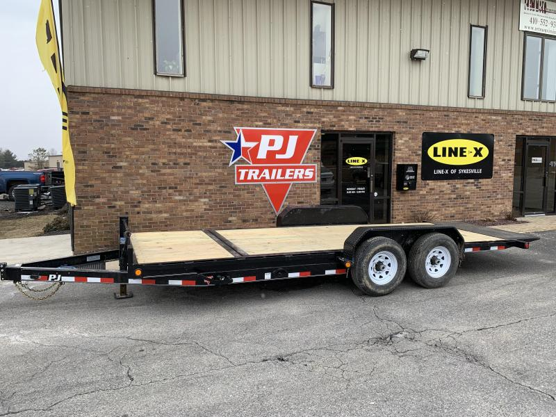 "2019 PJ Trailers 20' x 6"" Channel Equipment Tilt (T6) Equipment Trailer"
