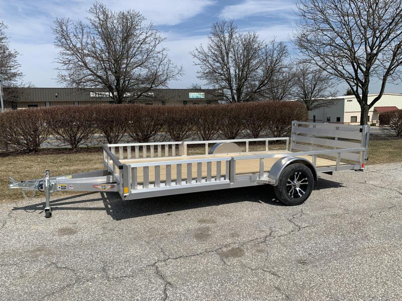 2019 H and H Trailer 14 x 82 Railside Aluminum Utlity/ATV Utility Trailer