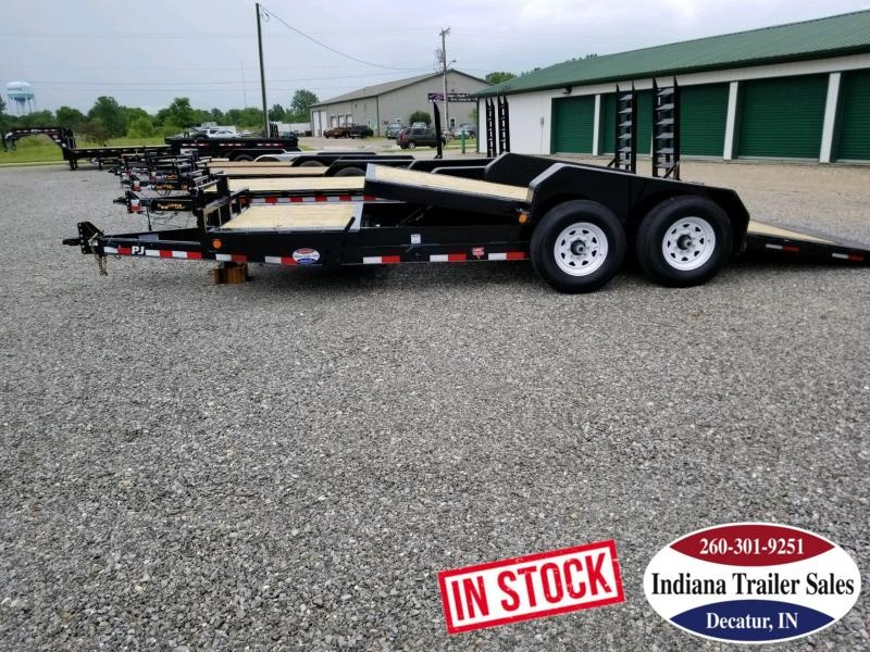 2020 PJ Trailers TJ2072 Equipment Trailer Tilt