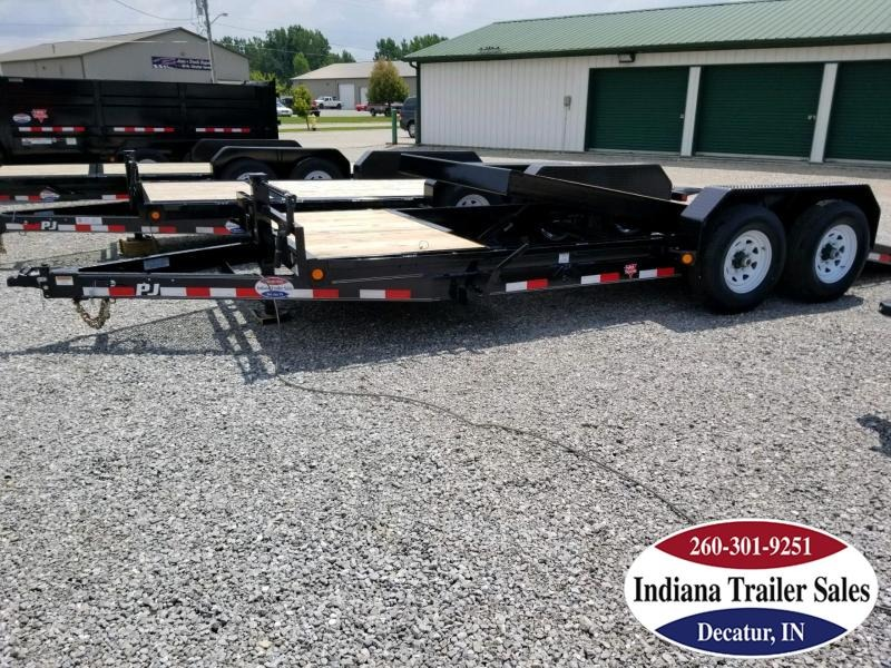 2019 PJ Trailers T6202 Equipment Trailer Tilt