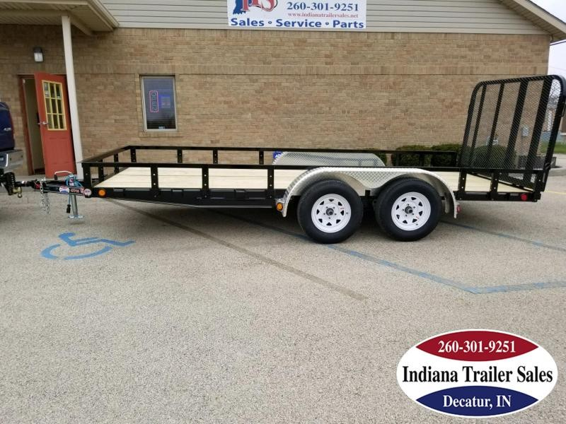 "2019 PJ Trailers UK162 77""x16' Utility Trailer"