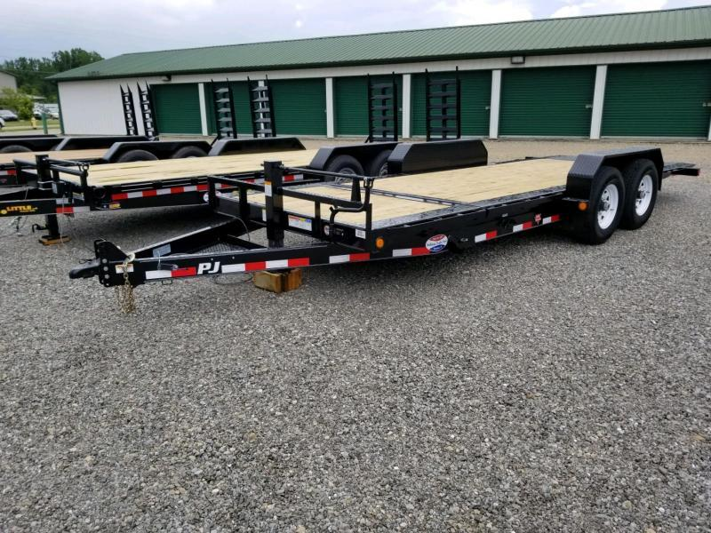2019 PJ Trailers TJ2072 82x20 Equipment Trailer Tilt