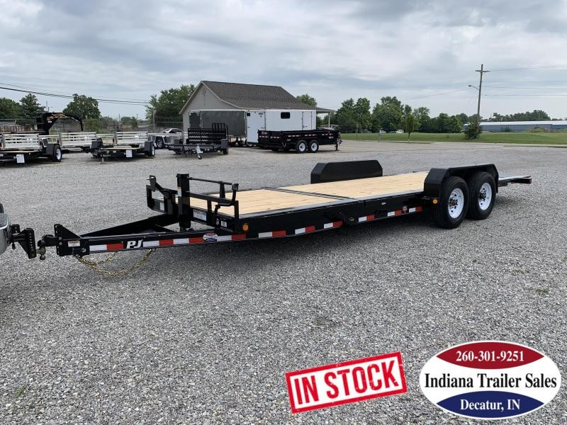 2020 PJ Trailers TJ222 82x22 Equipment Trailer Tilt