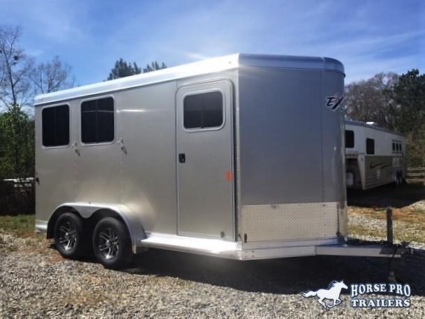 2019 Exiss 720 2 Horse Slant Load Bumper Pull w/Rear Tack & POLYLAST FLOORING!