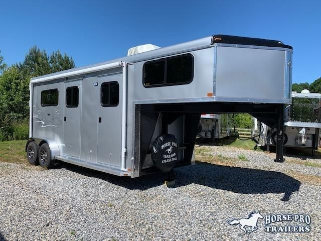 2019 Homesteader 2 Horse Straight load Gooseneck w/AWNING & A/C!