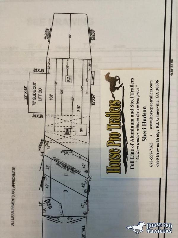 2020 4-Star Deluxe 3 Horse 14' Outback Living Quarters
