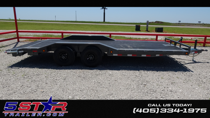 "2020 PJ Trailers PJ 20x102"" Tandem 5200lb Axle Buggy Hauler With Driver Over Fenders (B5) Car / Racing Trailer"