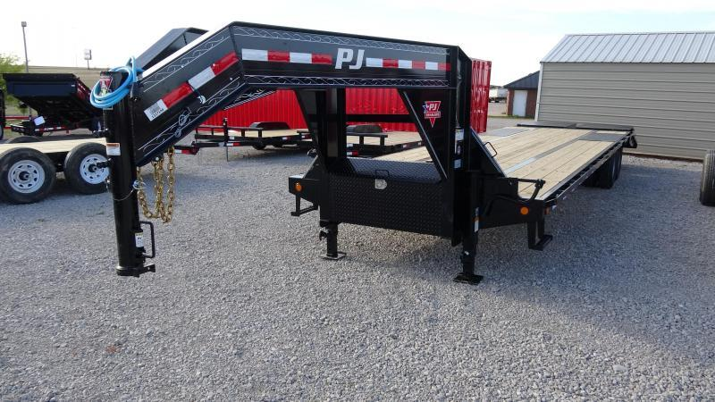 2020 PJ 32' Low-Pro Flatdeck Gooseneck 10k Duals  with Monster Ramps