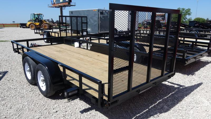 "16'x76"" Tandem Axle Utility Trailer With 4' Fold-in/out HD Gate"