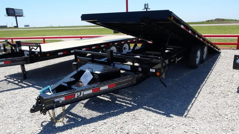 2020 PJ Trailers 22' Deckover Tilt Tandem 7000lb Axles (CL)
