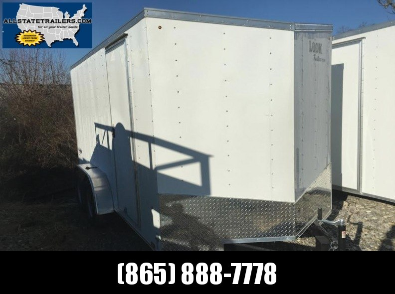 2017 Look Trailers EWLC7X14TE2  (7 X 14) Element Ramp Door V-Nose Cargo / Enclosed Trailer