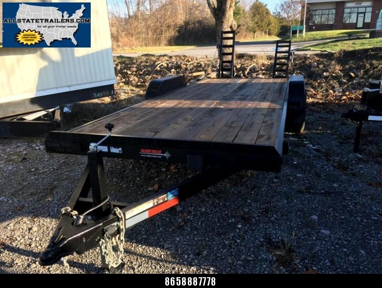2016 Caliber Trailer Mfg 7 x 20 EEL720 Equipment Trailer