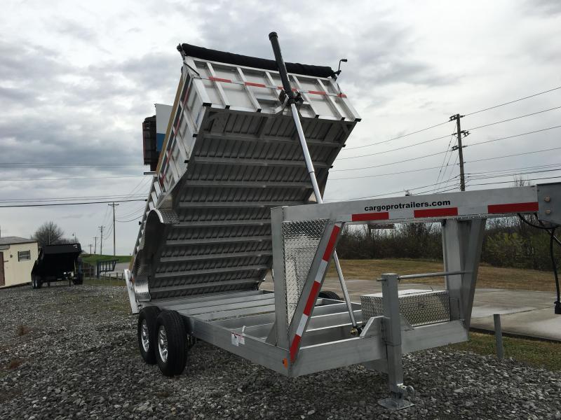 2016 Mission 7 X 14 Mission Gooseneck Dump 14000 GVWR Dump Trailer
