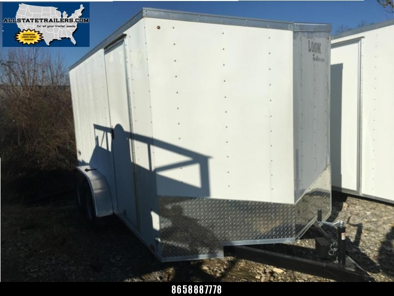 2018 Look Trailers EWLC7X14TE2  (7 X 14) Element Ramp Door V-Nose Cargo / Enclosed Trailer