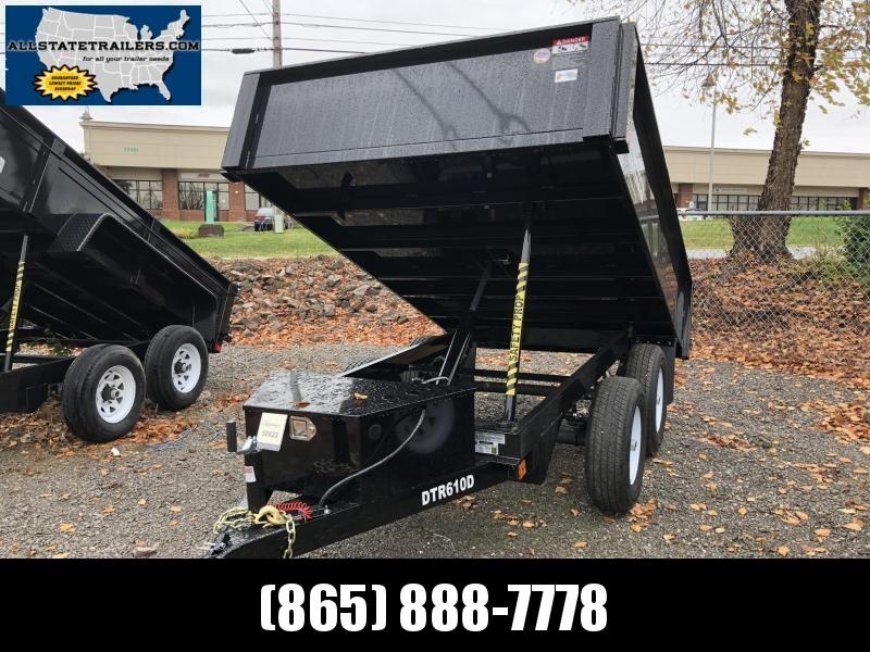 2019 Bri-Mar DTR610D-10 6 x 10 Deckover Dump Trailer