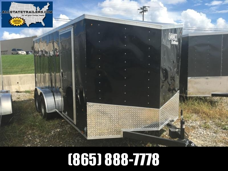 2018 Look Trailers EWLC7X16TE2  (7 X 16) Element Ramp Door V-Nose Cargo / Enclosed Trailer