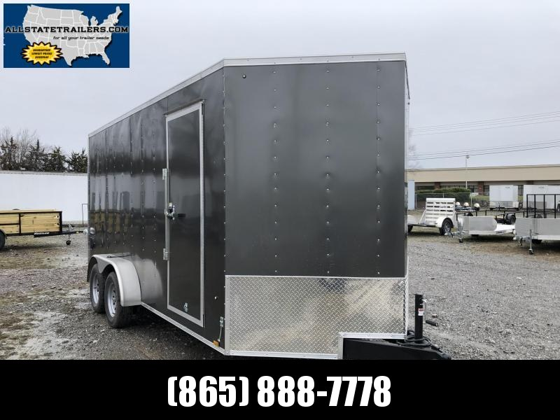 2020 Look Trailers EWLC7X16TE2  (7 X 16) Element Ramp Door V-Nose Cargo / Enclosed Trailer