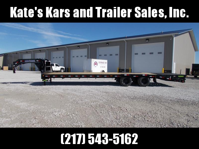 2020 Load Trail 102X32 Low Profile 27 plus 5' Self Clean Dove Flatbed Trailer