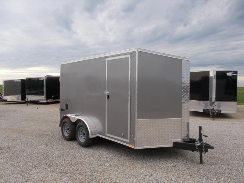 2020 Pace American 7X12 Tandem Axle Screwless Sides Enclosed Cargo Trailer