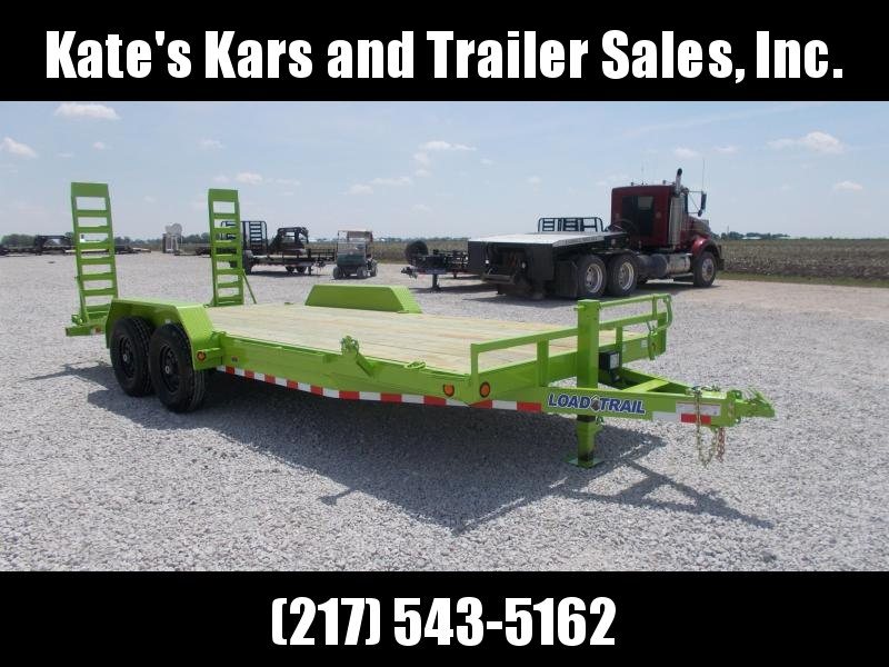 NEW!! Safety Green Load Trail 20 ft Implement Trailer 14000 LB GVWR Flatbed Trailer