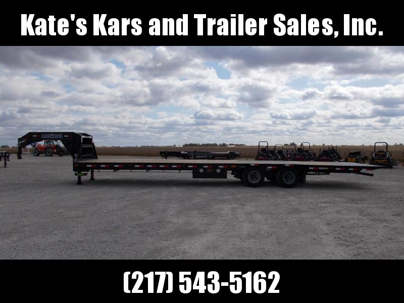 2020 Load Trail 102X36 Hydraulic DoveJacks 10K Axles Flatbed Trailer