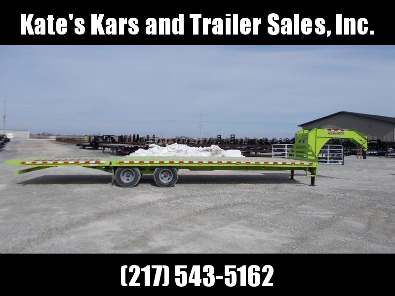 2019 Midsota FB32' GN Hydraulic Dovetail Gooseneck Trailer Flatbed Trailer