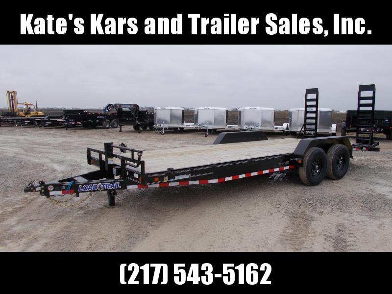 2020 Load Trail 83X22' 14K GVWR Fold Up Ramps Rub Rail Equipment Trailer