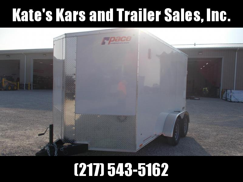2020 Pace American 7X12 Tandem Axle Screwless Sides Extra Tall Enclosed Cargo Trailer