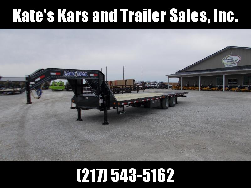 2019 Load Trail 32' Hydraulic Dovetail Gooseneck 12K HYDRO Brakes Flatbed Trailer