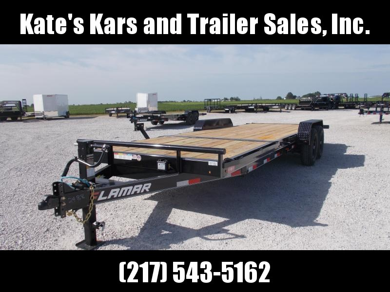 *NEW* Lamar 83X22' Tilt 14K LB  w Removable Fenders Equipment Trailer