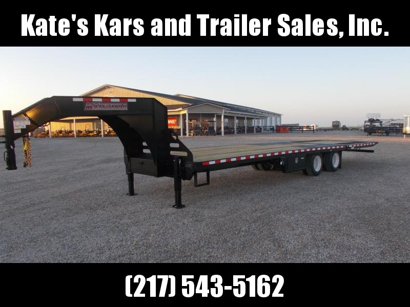 12K Axles  Midsota 102X32' Hydro Jacks and Dovetail Flatbed Trailer