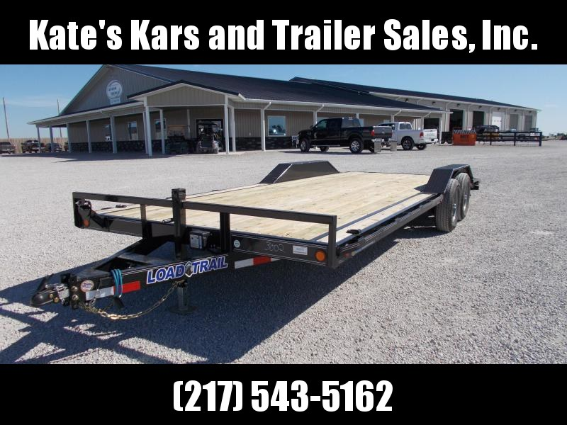 2020 Load Trail 102X22 9990 GVWR 3 Dovetail Slide out Ramps Car / Racing Trailer