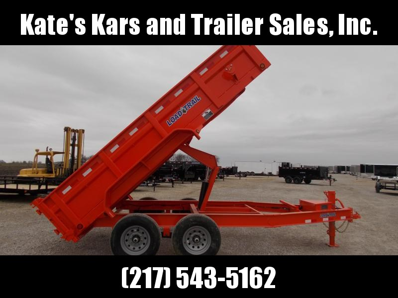2020 Load Trail 83X14 14K w Ramps Tarp Toolbox ORANGE Dump Trailer