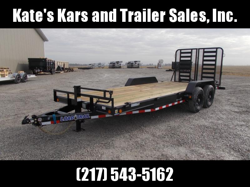 NEW Load Trail 83X20' HD 5' Split Gate 14K GVWR Flatbed Trailer