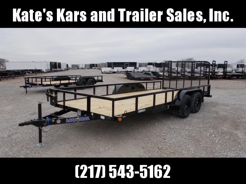 2020 Load Trail 83X18 Tandem Axle 7K GVWR 4' Gate Utility Trailer