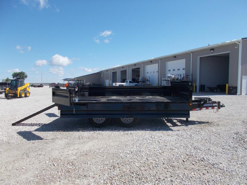 "Load Trail DECK OVER FOLD DOWN SIDES 96""X14' Dump Trailer 14K LB"