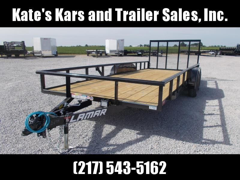 *NEW* Lamar 83X20' Pipe Top Straight Deck Utility Trailer atv utv
