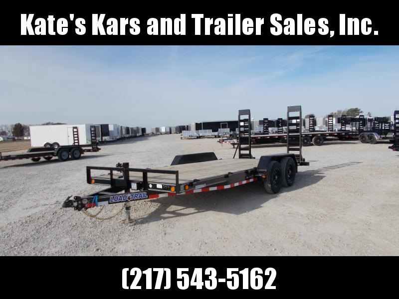 2020 Load Trail 83X18 Tandem Axle Stand Up Ramps Extra D-Rings Equipment Trailer
