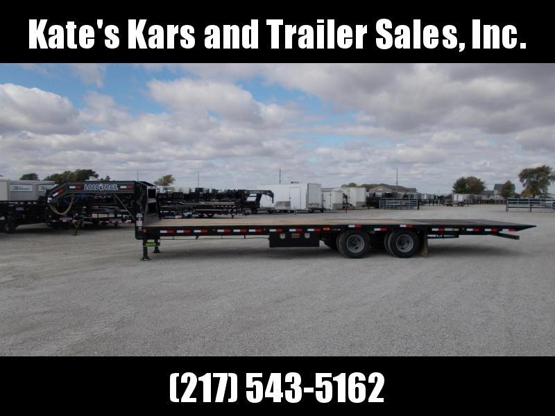 2020 Load Trail 102X32 Hydraulic DoveJacks 12K Axles Flatbed Trailer