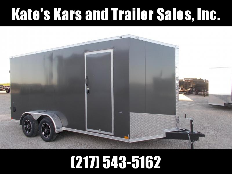 "ATV UTV Trailer Formula 12"" Extra Tall Upgraded Wheels 7X16' Enclosed Cargo Trailer"