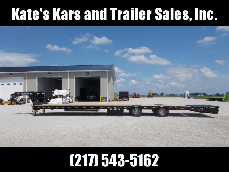 Hotshot Gooseneck Load Trail 102X44' Air Ride 25900 GVWR Flatbed Trailer