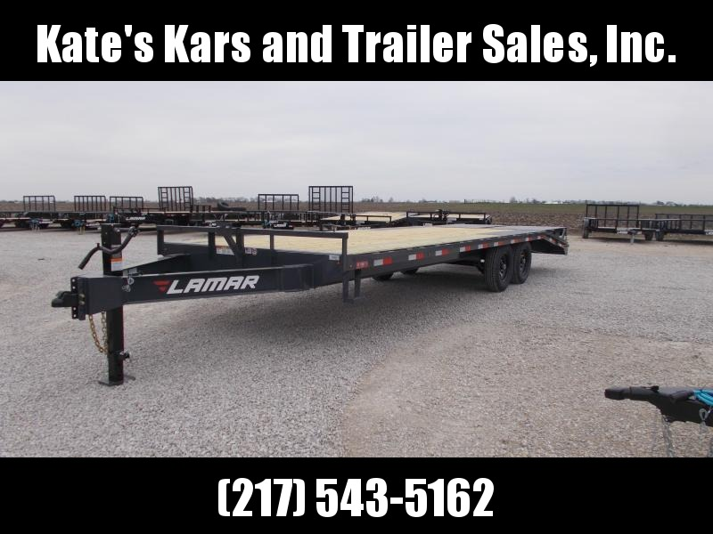 2019 Lamar Trailers 102x24 Flatbed Deckover Equipment Trailer