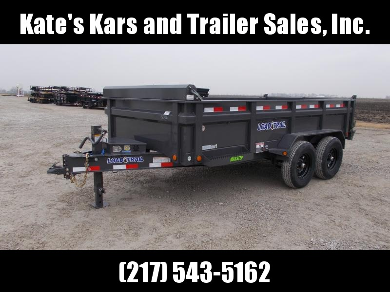 2020 Load Trail 83X14' Gray w/ tarp toolbox ramps 14KGVWR Dump Trailer