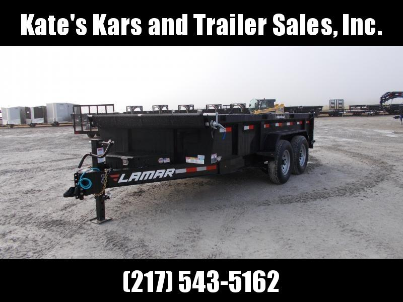 *NEW* Lamar 83x14' dump Trailer 14K LB 7GA Floor