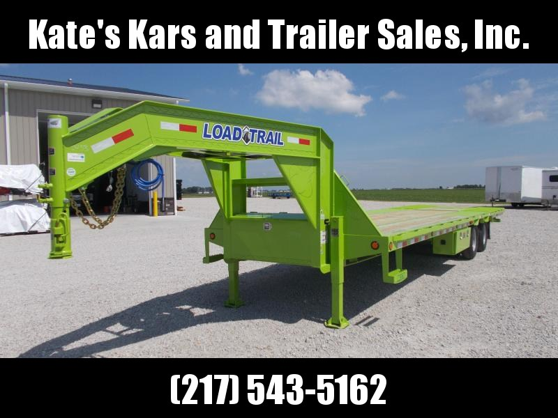 GOOSENECK Load Trail 102X32' Hydraulic Dovetail Hydro Jacks Flatbed Trailer