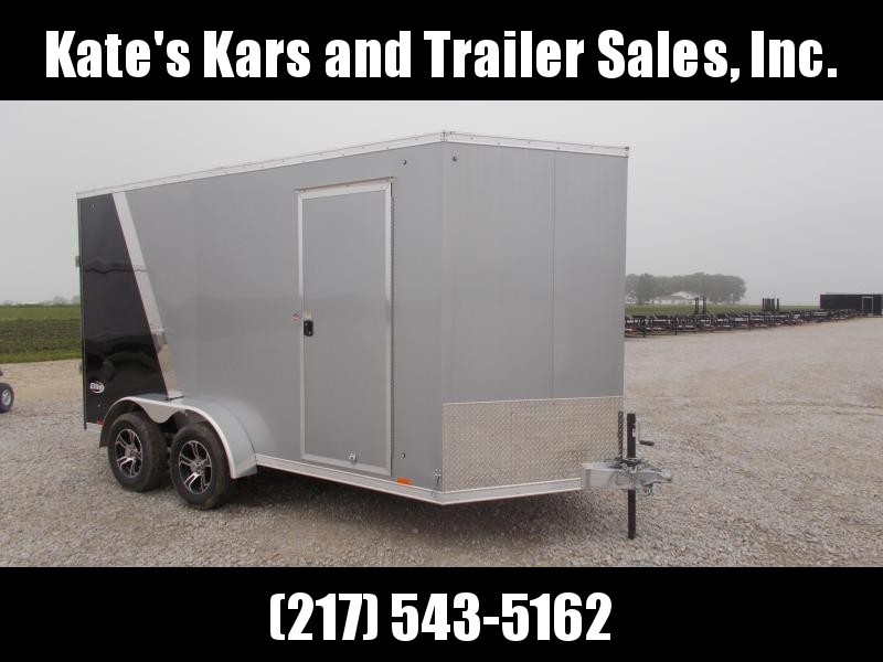 "12"" ADD Height *NEW* Pace 7X14' All Aluminum Two Tone w Screwless Sides Enclosed Cargo Trailer"