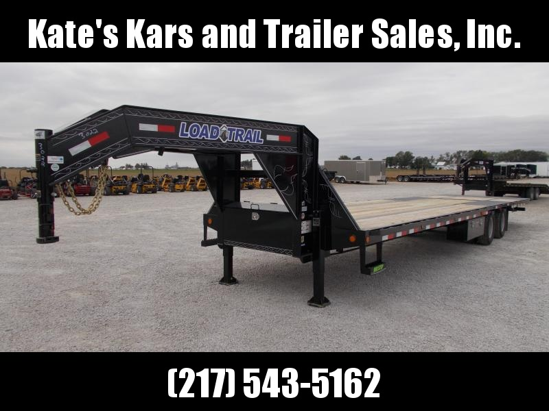 2020 Load Trail 102X36 Hydraulic BrakesJacksDovetail 12K Axles Flatbed Trailer