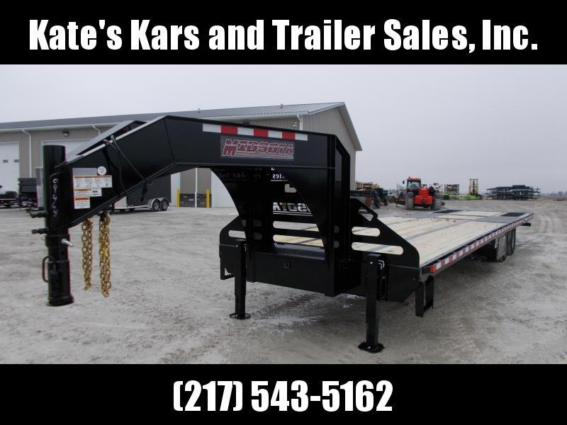 2019 Midsota 36' Hydraulic Dovetail Gooseneck FB36GN Flatbed Trailer
