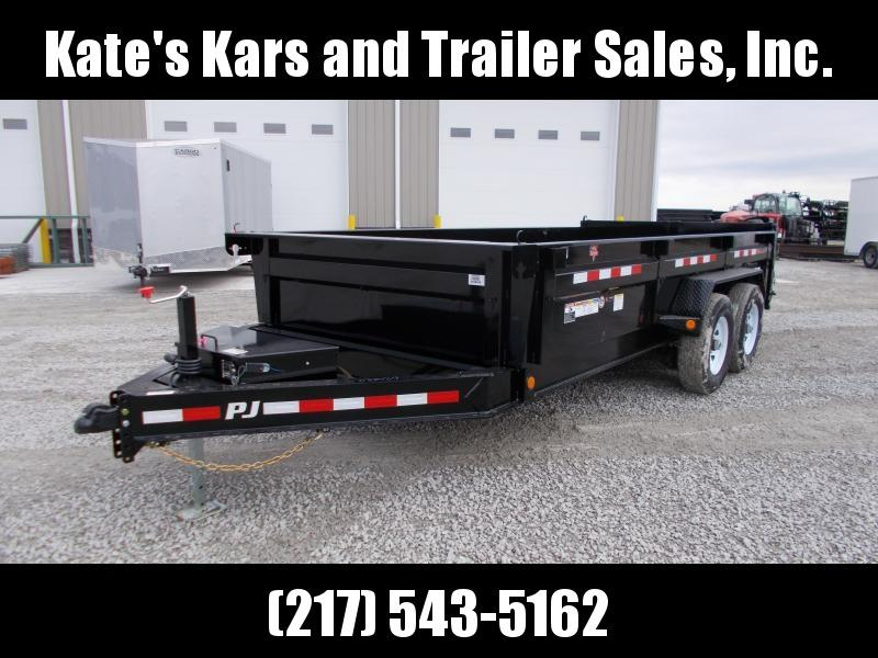 DISCOUNTED  PJ Trailers 83X16' Low Pro Dump Trailer 14K LB Dump Trailer